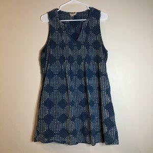 Mata Traders Blue Chambray Sleeveless Tunic Sz XL